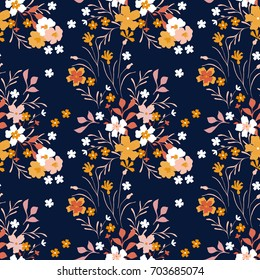 Cute floral pattern in the small flower. Seamless vector texture for fashion prints, wrapping, textile, paper, wallpaper.