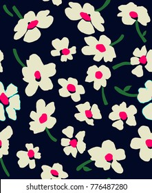 """Cute Floral pattern in the small flower. """"Ditsy print"""". Motifs scattered random. Seamless vector texture. Elegant template for fashion prints."""