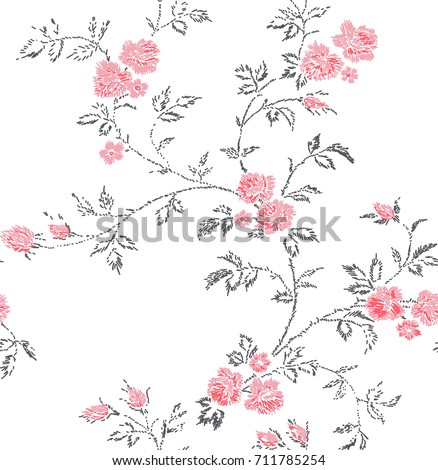 Cute Floral Pattern Small Flower Imitation Stock Vector Royalty