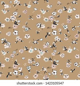Cute Floral pattern of small flowers. - Vector