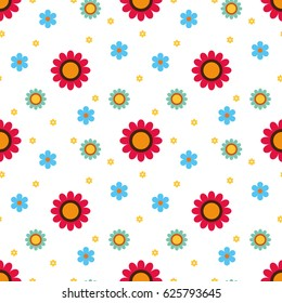 Cute Floral Pattern Vector Design