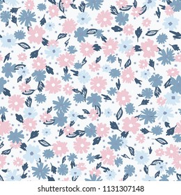 Cute floral seamless pattern in the small flower.flower pattern background