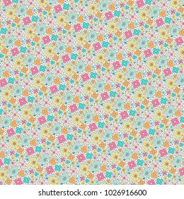 Cute floral themed background pattern.