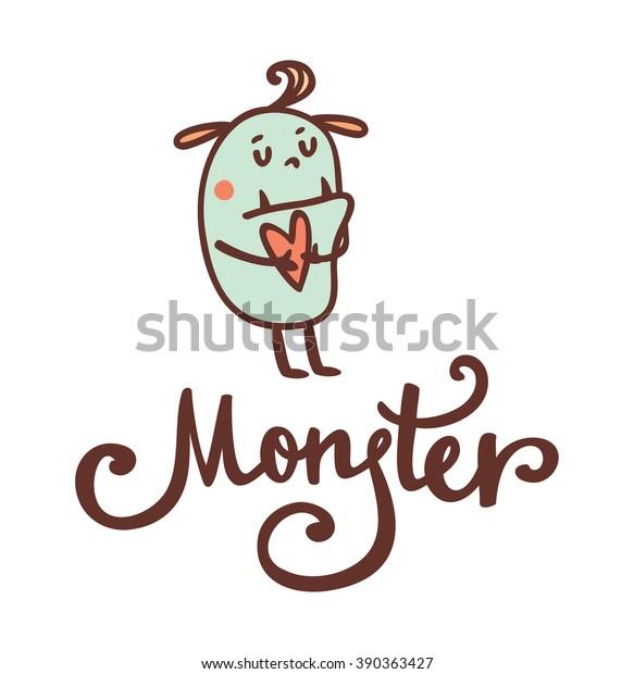 Cute Fluffy Monster Vector Stock Vector Royalty Free 390363427
