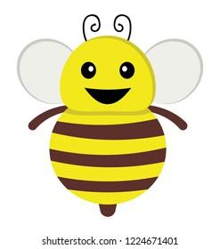 A cute flying bee