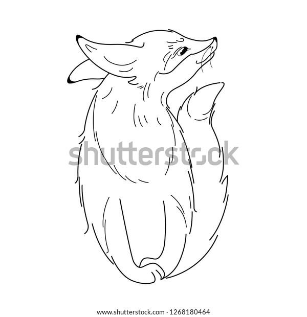 Cute Fox Cartoon Character Vector Illustration Stock Vector Royalty Free 1268180464