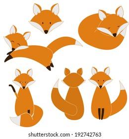 Cute fox set