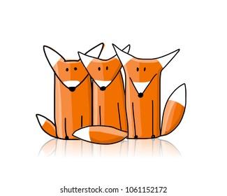 zorros cortos, bocetos para el diseño
