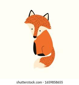 cute foxs character vector cartoon