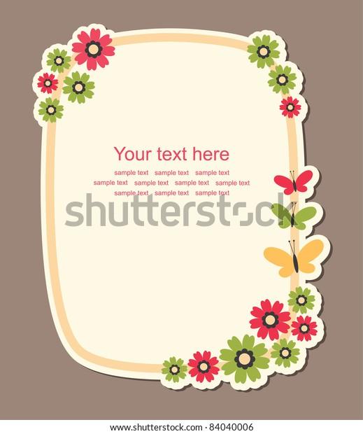 Cute Frame Design Vector Illustration Stock Vector (Royalty