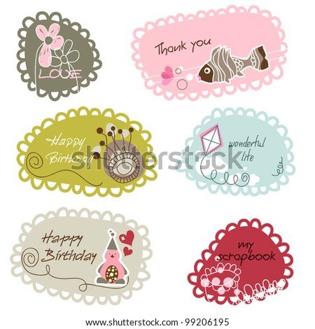 Cute Frames Banners Kids Stock Vector (Royalty Free) 99206195 ...