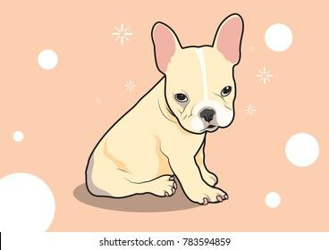 Cute French Bulldog Puppy feels Sleepy