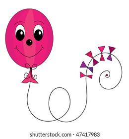 Cute, friendly balloon vector