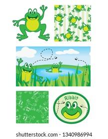 Cute Frog Children Patterns