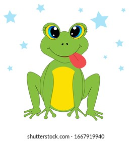 cute  frog illustration nursery decor