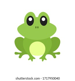 Cute Frog with Outline Vector Illustration