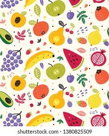 Cute Fruit Summer Seamless Pattern