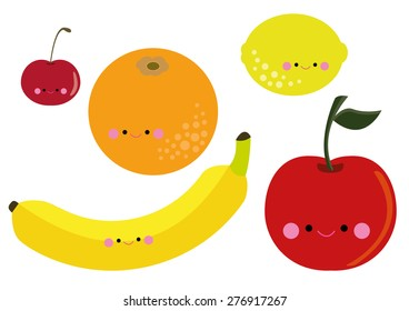 Cute Fruits vector