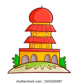 Cute and funny beautiful red mosque