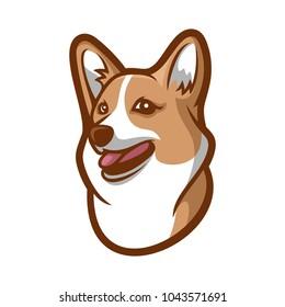 Cute funny cartoon dog vector puppy pet. Furry human friend home animal. Cute corgi dog cartoon style