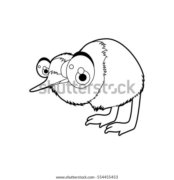 Cute Funny Cartoon Style Coloring Bird Stock Vector Royalty Free 554455453
