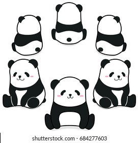 panda vector images stock photos vectors shutterstock