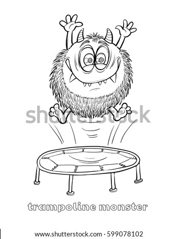 cute funny halloween monster coloring page stock vector royalty Descendants Funny cute and funny halloween monster coloring page tr oline monster