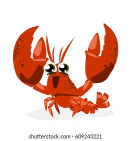 Cute Funny Lobster