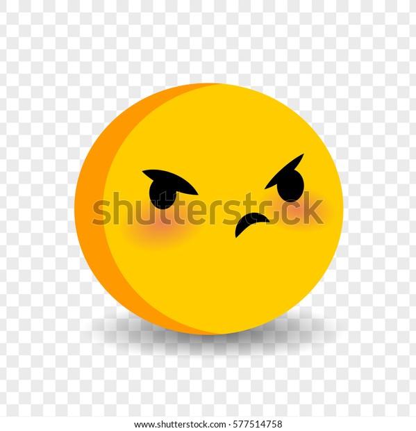 Cute Funny Smile Angry Face Vector Stock Vektorgrafik Lizenzfrei