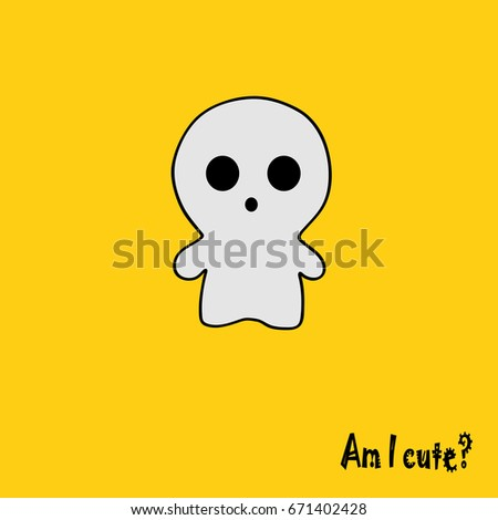 Cute Ghost Of Yellow Wallpaper
