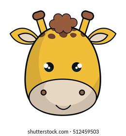cute giraffe animal kawaii style