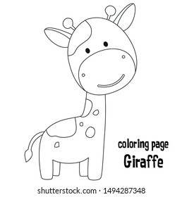 Giraffe Coloring Page Hd Stock Images Shutterstock