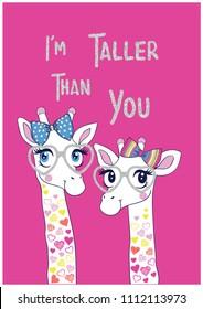cute giraffe frendly