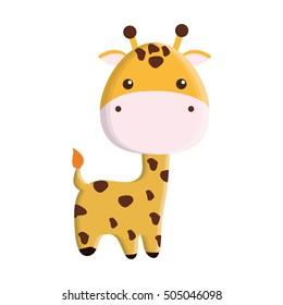 cute giraffe isolated icon vector illustration design