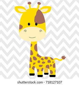 cute giraffe isolated icon vector illustration design