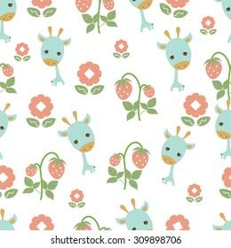 Cute giraffe pattern