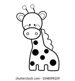 cute giraffe toy cartoon line 260nw