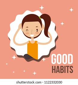 cute girl activity lifestyle good habits