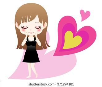 Cute girl character illustration