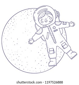 Astronaut Coloring Page Images Stock Photos Vectors Shutterstock