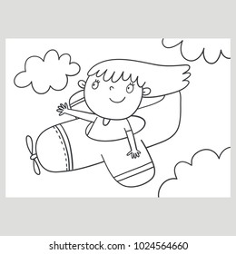 Cute girl Coloring page
