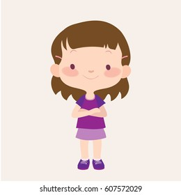 cartoon clip art little girl images stock photos vectors rh shutterstock com little girl clipart black and white little girl clip art images