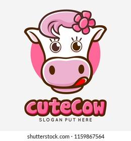 Cute Girl Pink Cow cartoon