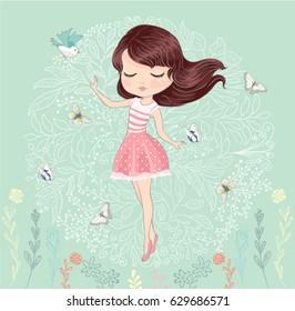 Cute girl vector design.