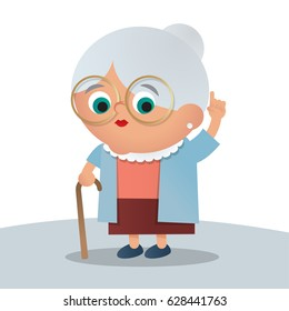 Cute grandma illustration