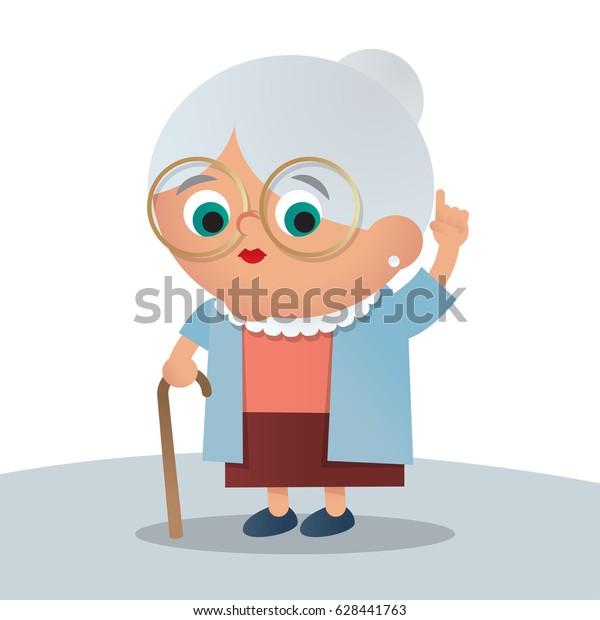 かわいいおばあちゃんのイラスト のベクター画像素材 ロイヤリティフリー