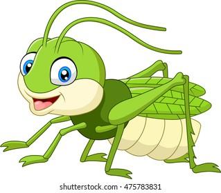 Cute grasshopper cartoon