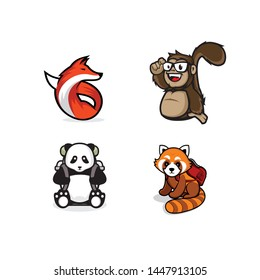 Cute and Great Design Logo Animal Template