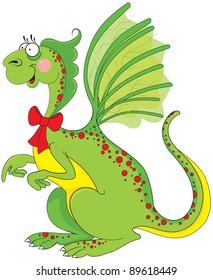 Cute green dragon