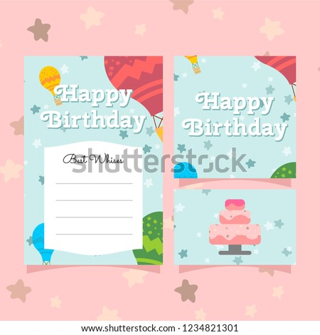 Cute Greeting Birthday Card Templates For Girls